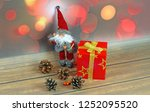 christmas ornaments on abstract ...   Shutterstock . vector #1252095520