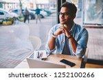 good looking positive smart... | Shutterstock . vector #1252100266