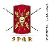 ancient roman empire warriour... | Shutterstock .eps vector #1252103536