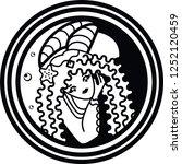 mermaid circle logo   Shutterstock . vector #1252120459