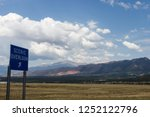 scenic mountains  blue sky with ...   Shutterstock . vector #1252122796