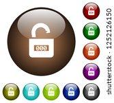 unlocked combination lock with...   Shutterstock .eps vector #1252126150