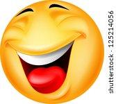 happy smiley face | Shutterstock .eps vector #125214056