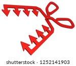 red symbolic arrow teeth... | Shutterstock . vector #1252141903