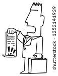 lawyer demand holding document...   Shutterstock .eps vector #1252141939