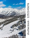 the famous vail mountain and... | Shutterstock . vector #1252143676