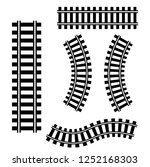 railroad tracks icon. vector set | Shutterstock .eps vector #1252168303
