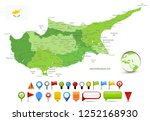 cyprus map spot green colors... | Shutterstock .eps vector #1252168930