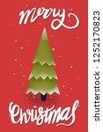 merry christmas tree    Shutterstock . vector #1252170823