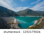 the inguri dam is a... | Shutterstock . vector #1252175026