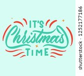 merry christmas greeting card | Shutterstock .eps vector #1252177186
