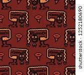 seamless geometrical pattern... | Shutterstock .eps vector #1252180690