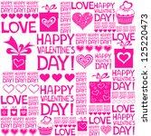 happy valentine's day.... | Shutterstock .eps vector #125220473