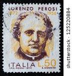 italy   circa 1972  stamp... | Shutterstock . vector #125220884