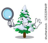 detective firs with snow on... | Shutterstock .eps vector #1252209649