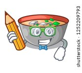 student asian soup cup isolated ... | Shutterstock .eps vector #1252209793