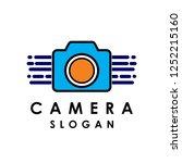 vector camera logo for... | Shutterstock .eps vector #1252215160