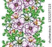 flower print in bright colors.... | Shutterstock .eps vector #1252257223