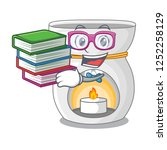 student with book aroma therapy ... | Shutterstock .eps vector #1252258129