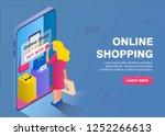 online shopping buisness... | Shutterstock .eps vector #1252266613