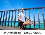 beautiful woman posing  ... | Shutterstock . vector #1252273000