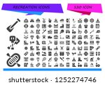 vector icons pack of 120 filled ... | Shutterstock .eps vector #1252274746