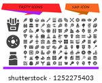 vector icons pack of 120 filled ... | Shutterstock .eps vector #1252275403