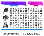 vector icons pack of 120 filled ...   Shutterstock .eps vector #1252275430