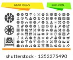 vector icons pack of 120 filled ... | Shutterstock .eps vector #1252275490