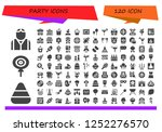vector icons pack of 120 filled ... | Shutterstock .eps vector #1252276570