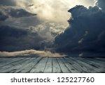 Stormy Sky And Wooden Floor ...