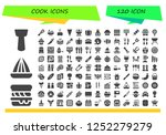 vector icons pack of 120 filled ...   Shutterstock .eps vector #1252279279