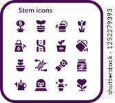 vector icons pack of 16 filled... | Shutterstock .eps vector #1252279393