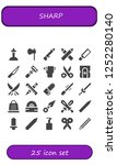 vector icons pack of 25 filled... | Shutterstock .eps vector #1252280140
