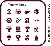 vector icons pack of 16 filled... | Shutterstock .eps vector #1252280680