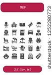 vector icons pack of 25 filled... | Shutterstock .eps vector #1252280773