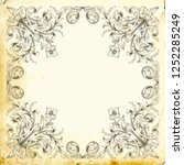 retro baroque decorations... | Shutterstock .eps vector #1252285249