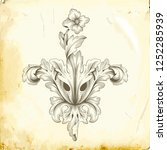 retro baroque decorations... | Shutterstock .eps vector #1252285939