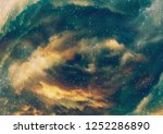 grunge nebula clouds with stars ... | Shutterstock . vector #1252286890