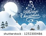 merry christmas vector text... | Shutterstock .eps vector #1252300486