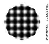 filled circle halftone dotted... | Shutterstock .eps vector #1252315483