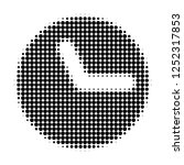 clock halftone dotted icon.... | Shutterstock .eps vector #1252317853