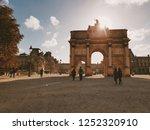 arc de triomphe du carrousel... | Shutterstock . vector #1252320910