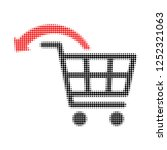 undo shopping order halftone... | Shutterstock .eps vector #1252321063