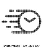 clock halftone dotted icon with ... | Shutterstock .eps vector #1252321120