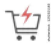 instant shopping halftone...   Shutterstock .eps vector #1252321183
