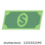 dollar banknote halftone dotted ... | Shutterstock .eps vector #1252322290