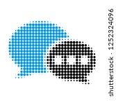 forum messages halftone dotted... | Shutterstock .eps vector #1252324096