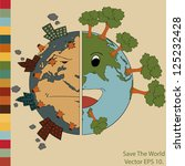 world map earth globe vector... | Shutterstock .eps vector #125232428