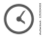 clock halftone dotted icon.... | Shutterstock .eps vector #1252324333